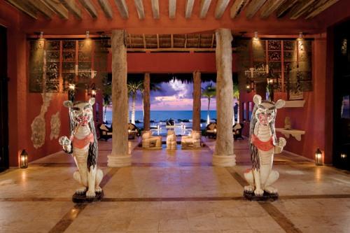 The Stunning Lobby at Zoetry Paraiso de la Bonita